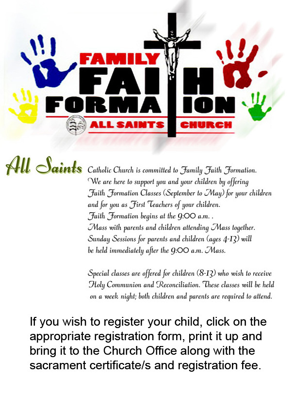 Family Faith Formation (K to 8 Grade) | All Saints Church